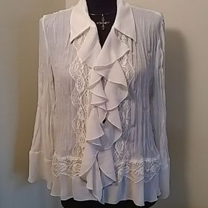 Coldwater Creek White Blouse